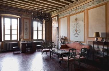 sale interno Castello di lurano famiglia secco Bergamo