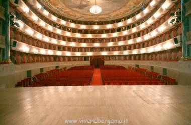 vista palco teatro Donizetti Bergamo