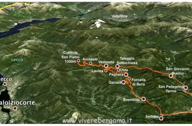 Mappa Valle Taleggio Bergamo