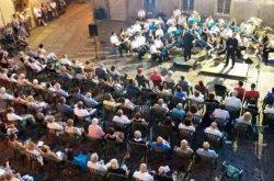 Concerto Banda di Gandino in piazza santa Croce