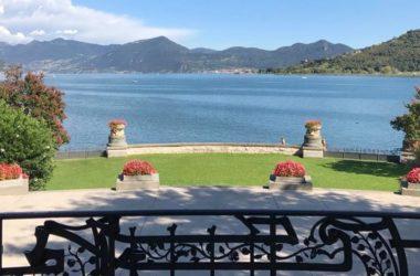 Vista Terrazzo Villa liberty 1907 nella Villa Giuseppe Faccanoni a Sarnico