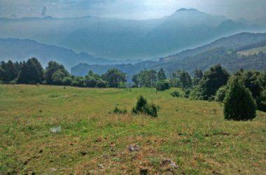 Vista dalla Malga Lunga, verso il lago