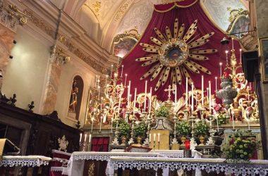 Altare e raggiera Cazzano Sant' Andrea