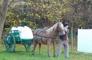 Consegna della lavanderia Il presepe dei lavandai alle Ghiaie - Paladina