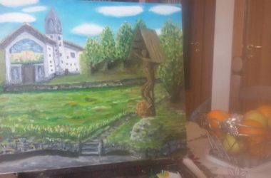 Dipinto Luciano Nodari Chiesetta di Valpiana - Gandino