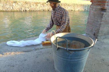 Fotografie Il presepe dei lavandai alle Ghiaie - Paladina