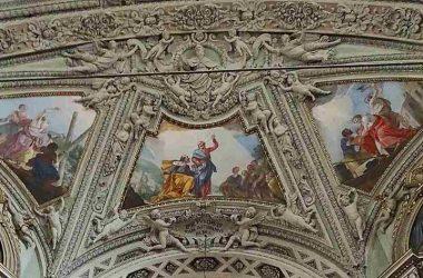Alzano Lombardo -Bergamo Basilica di San Martino Vescovo- stucchi di G.A. Sala e affreschi di V. Orelli
