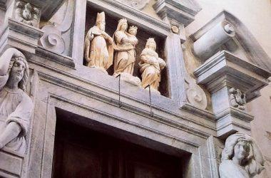 Bergamo IL,PORTALE DEL MONASTERO DI SANTA GRATA DELLE SUORE BENEDETTINE