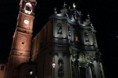 Chiesa di San Zenone illuminata Osio Sotto