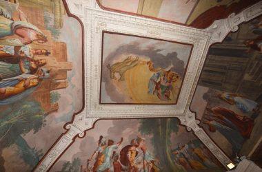 Dipinti soffitto Castello di Malpaga Cavernago