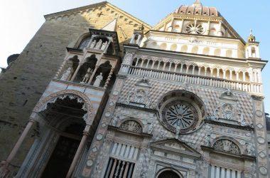 Facciata Cappella Colleoni a Bergamo