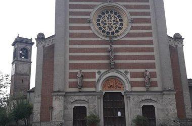 Facciata e campanile Chiesa di Arzago d'Adda