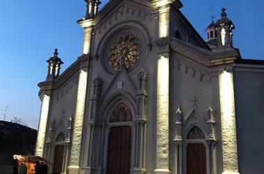 La chiesa parrocchiale del Sacro Cuore di Gesù di Bonate Sotto