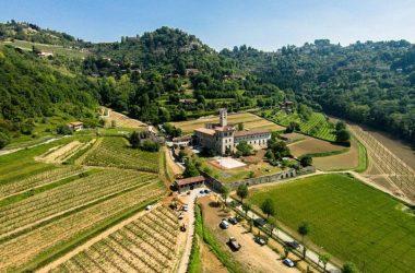 La valle di Astino con il suo Monastero