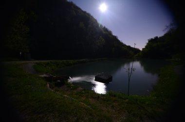 Laghetto Corrado di notte