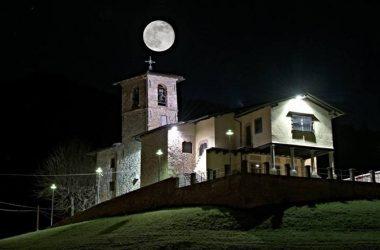 Luna e Chiesa di San Gottardo - Gandino