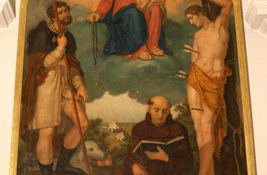Madonna del rosario tra San Rocco, San Sebastiano e Sant'Antonio da Padova – olio su tela