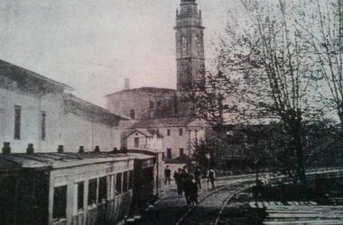 Osio Sotto 1906 fermata del vecchio tram