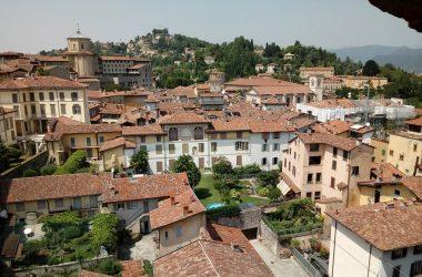 Panorama Torre Civica Campanone Bergamo Alta