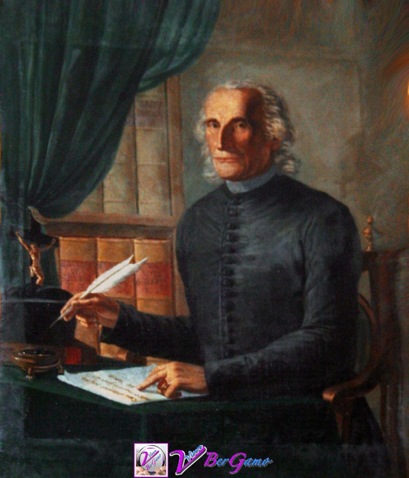 Prevosto Plebano Vicario Foraneo don Girolamo Cavalli in un ritratto in sacrestia dell Pieve di Terno.