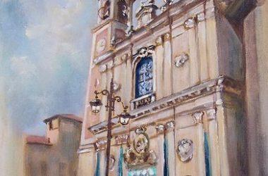 SANTUARIO MADONNA DELLE LACRIME dipinto di Mandelli Mariella