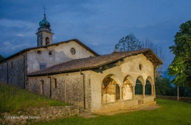Santuario Santissima Trinità di sera - Casnigo