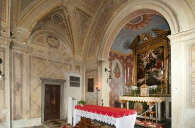 pala d'altare La Vergine col Bambino del Salmeggia, presente nella chiesetta di San Gregorio